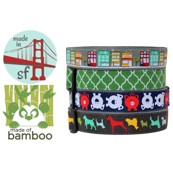 画像1: 【サンフランシスコ発!竹繊維のエコ首輪】モリーマット・カラー&リード