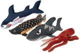 【お魚型の丈夫なキャンバストイ】ペットスポーツ・リアルお魚トイ