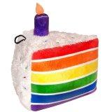 【メッシュ補強の丈夫なぬいぐるみ】パワープラッシュ・虹色ケーキ
