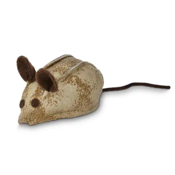画像1: 【リープス&バウンズの猫おもちゃ】フェイクレザーマウス ガラガラ&キャットニップ入り