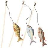 【キャットニップ入りリアルなお魚】ゴーンフィッシン・ティーザーワンド
