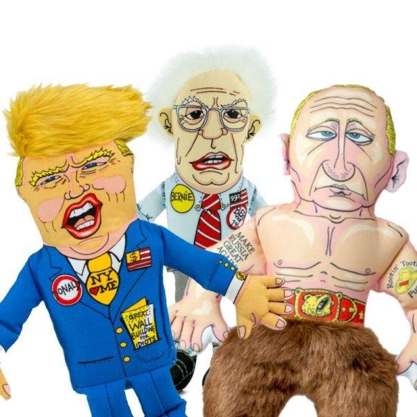 画像1: 【アメリカ大統領&政治家パロディトイ】トランプ・バーニー・プーチン(猫用)