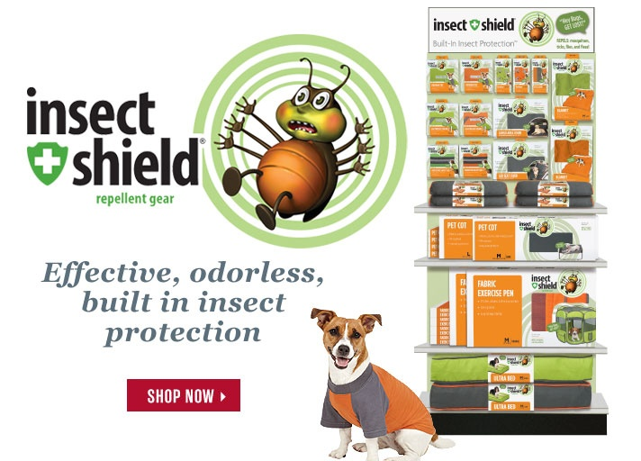インセクトシールド素材で虫よけを!
